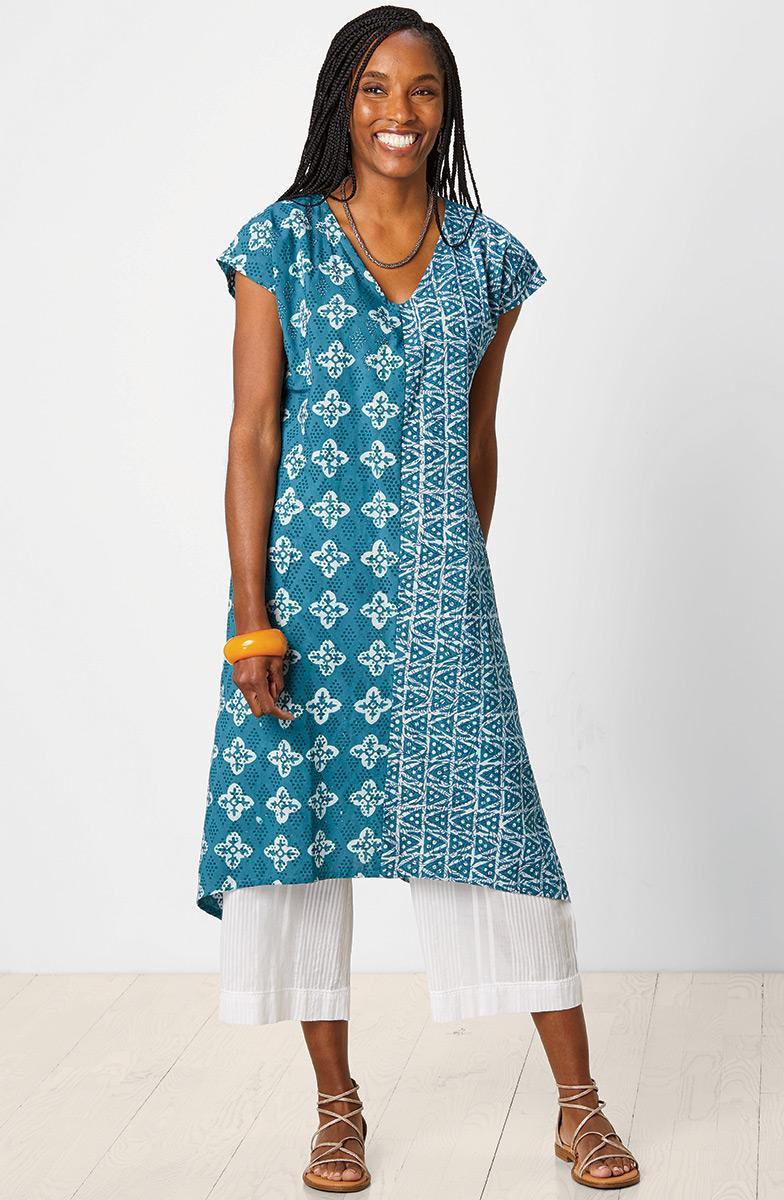 Shefali Dress - Capri teal