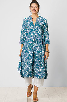 Kurta Dress - Capri teal