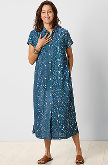 Varani Shirt Dress - River/White