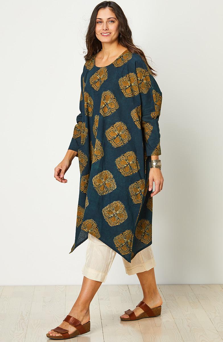 Pali Dress - Dark blue/Gold