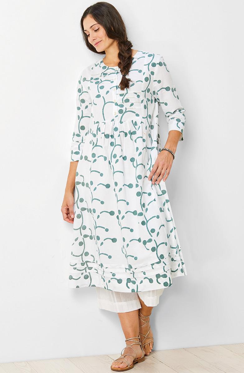 Vasanti Dress - White/Sage