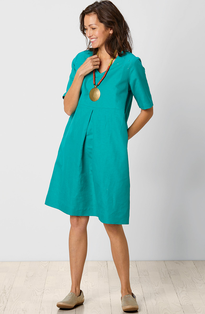 Asmita Dress - Bright teal