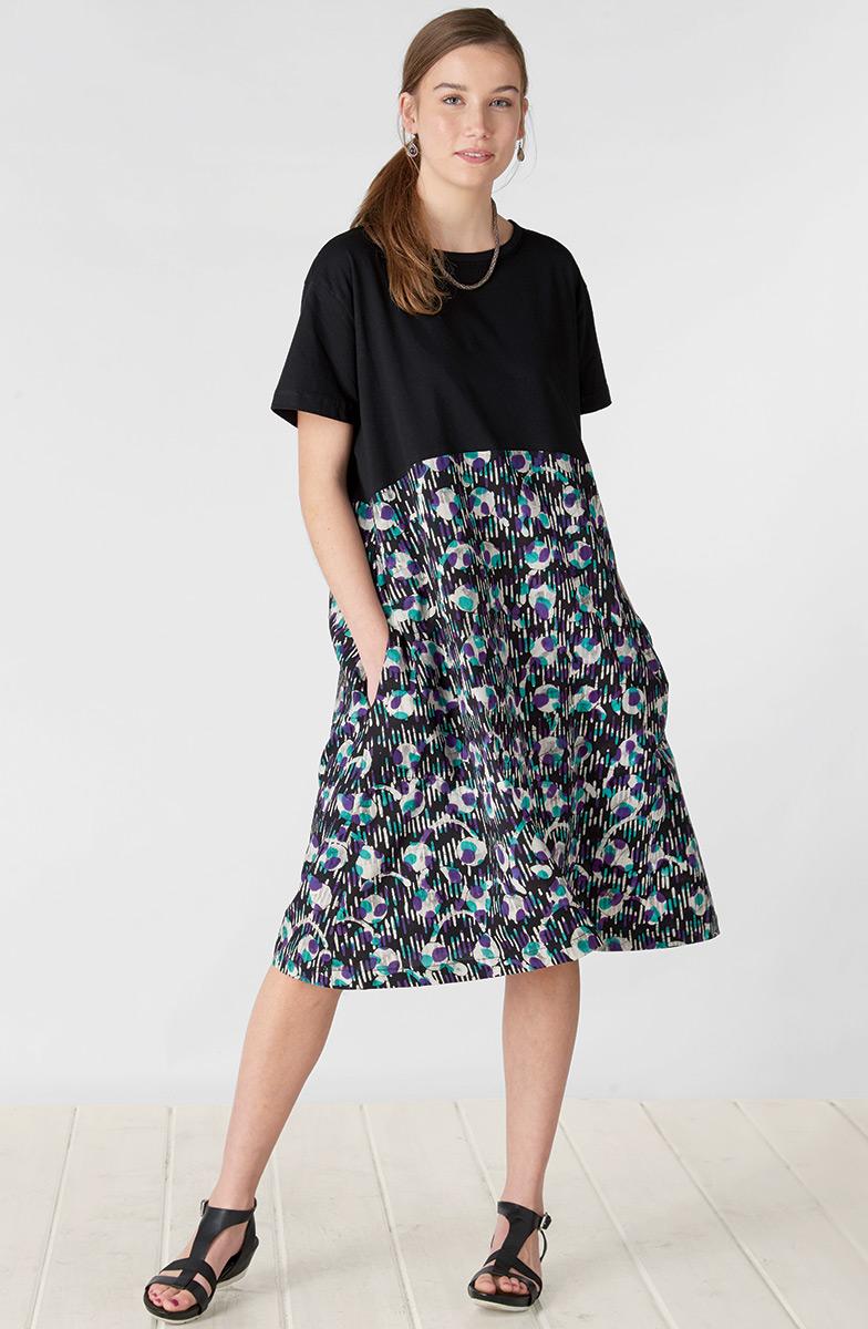 Najma Dress - Black/Multi