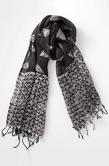 Linen Scarf - Black