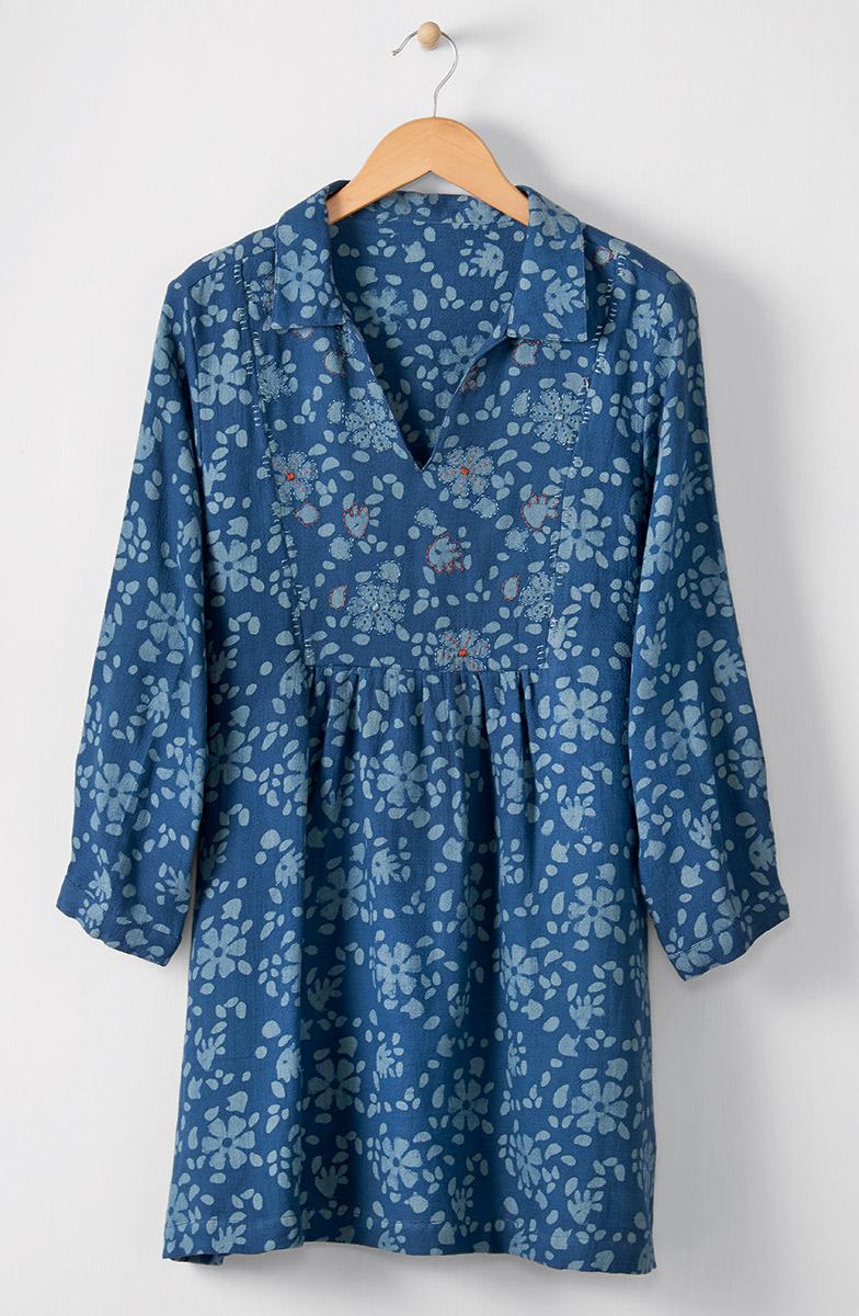 Shilpa Tunic - Ink blue