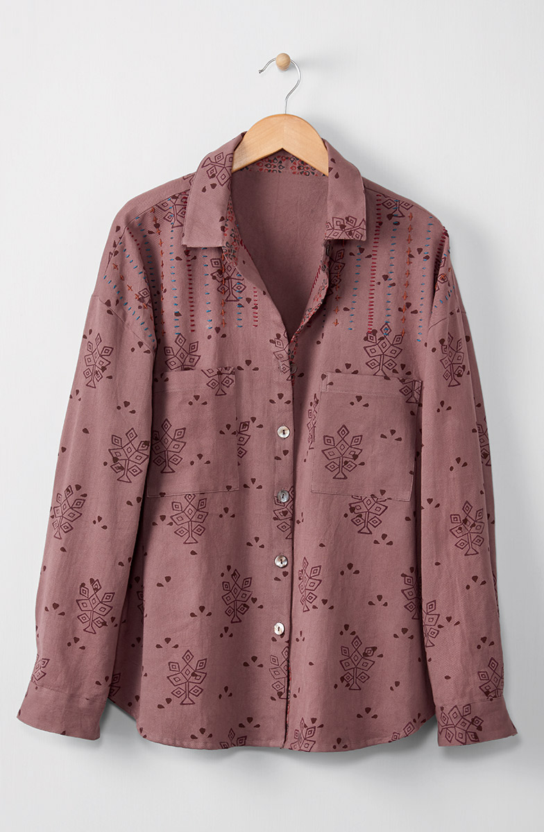 Ranjitha Shirt - Dusty plum