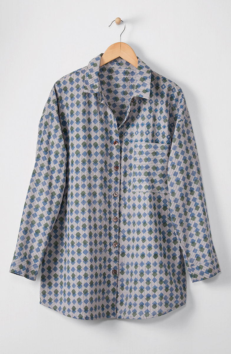 Samara Shirt - Cloud/Multi