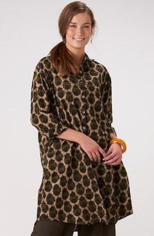 Rima Shirt - Almond/Dark olive
