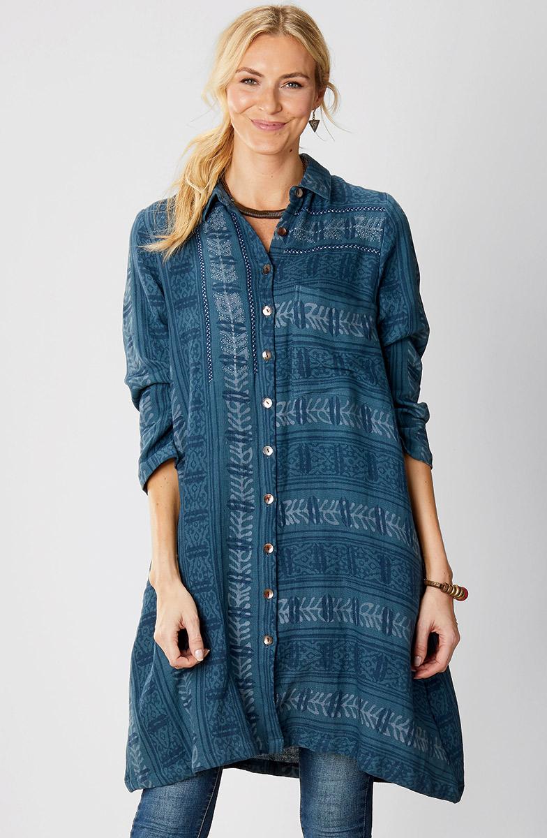 Nahila Shirt - Ink blue