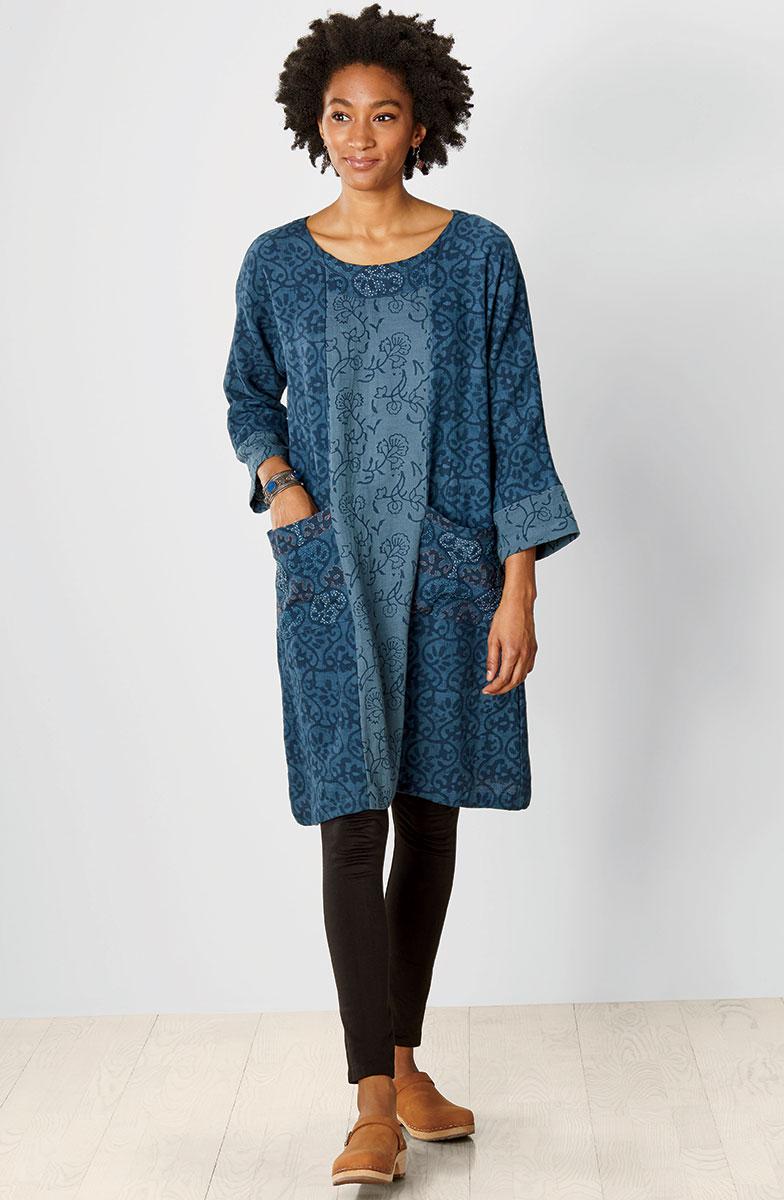 Patna Dress - Ink blue