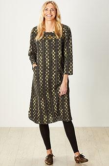 Sarita Dress - Dark olive