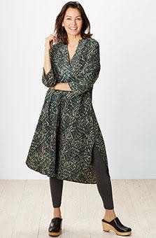 Kurta Dress - Mushroom/Multi