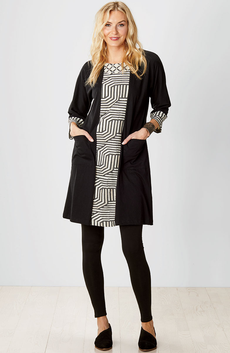 Patna Dress - Black/Natural