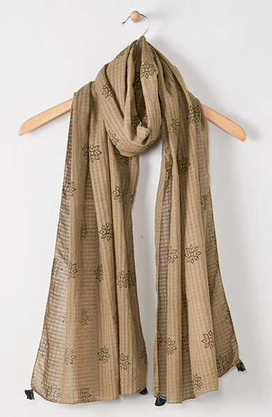 Scarf - Pale olive