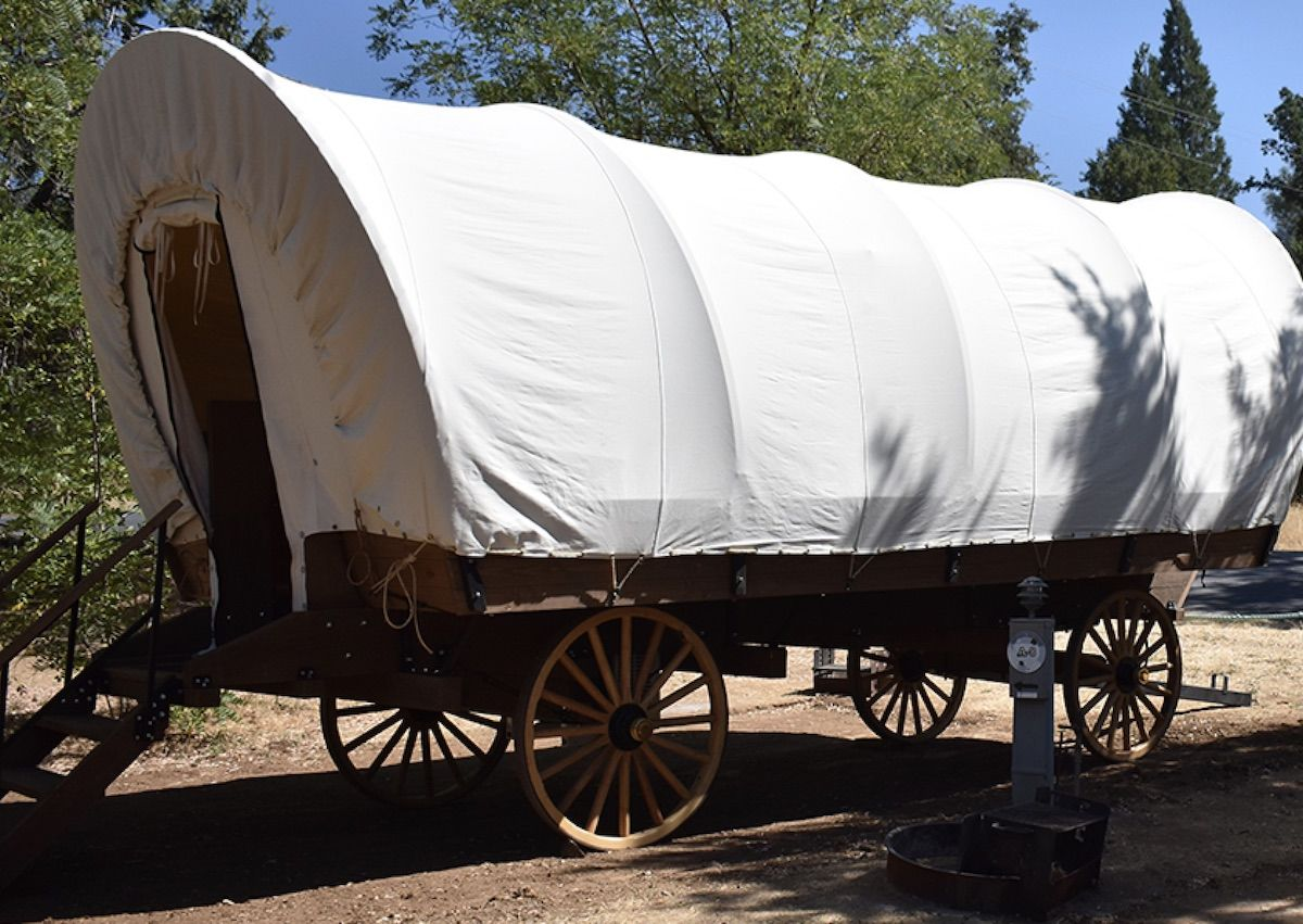 Yosemite Pines Rv Resort Lets You Glamp In A Covered Wagon