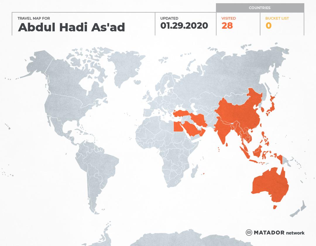 hadi as ad's travel map