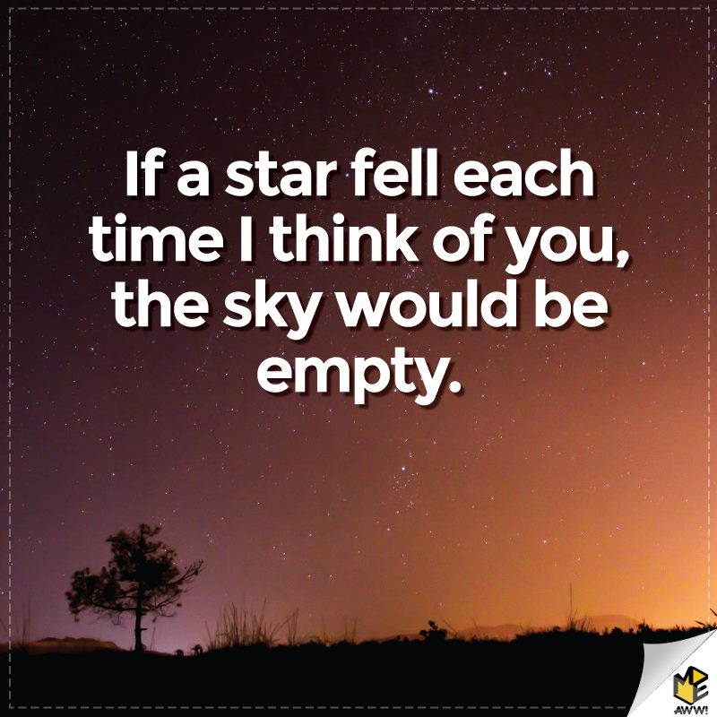 If a star fell each time.
