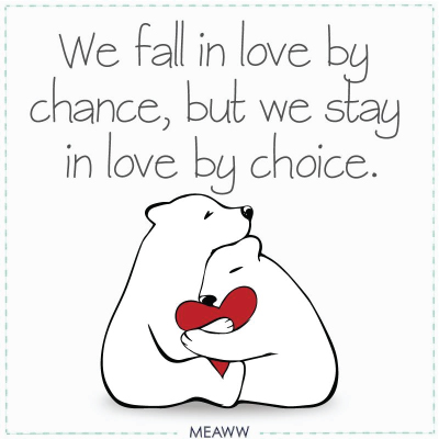 We fall in love by chance.