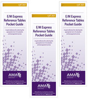 CPT E/M Express Reference Tables Pocket Guide