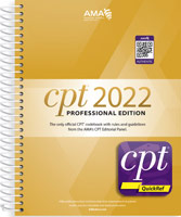 CPT 2022 Professional Edition with CPT QuickRef App