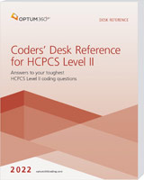 Coders' Desk Reference for HCPCS Level II 2022