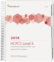 HCPCS Level II Expert 2018 Spiral