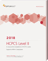HCPCS Level II Professional 2018 Softbound