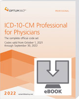 ICD-10-CM Professional for Physicians 2022 eBook