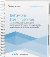 Coding and Payment Guide for Behavioral Health Services 2022
