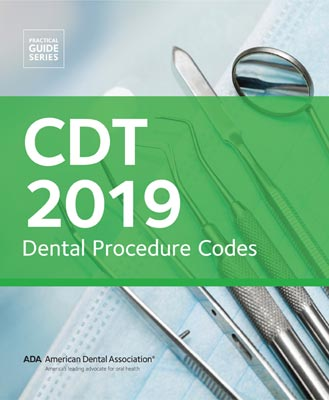 Ada Cdt 2019 Dental Procedure Codes Medicalcodingbooks