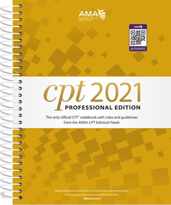 CPT Professional 2021 Edition Spiral
