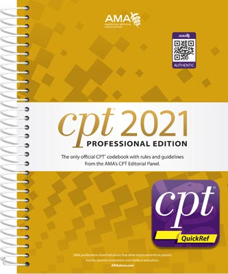 CPT 2021 Professional Edition with CPT QuickRef App