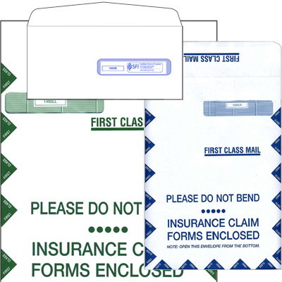 Insurance Claim Form Mailing Envelopes