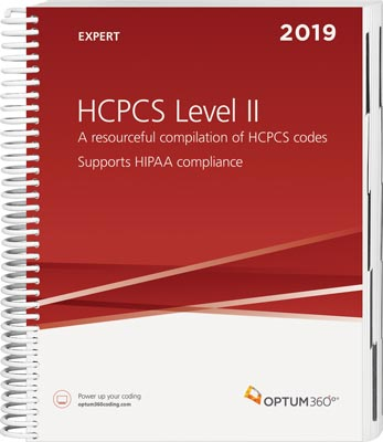 HCPCS Level II Expert 2019 Spiral