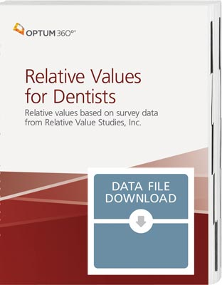 Relative Values for Dentists Data File 2021
