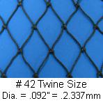 Seine Netting, Twine Size #42