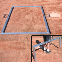 Batter's Box Template, 3' X 7' Heavy Duty