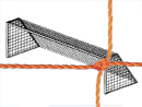Soccer Goal Nets, 8' High, 24' Wide, 4' Top Depth, 10' Base Depth, Orange, Pair