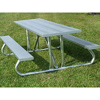 Picnic Table, Aluminum, 12' L