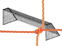 Soccer Goal Nets, 7' High, 12' Wide, 4' Top Depth, 4' Base Depth, Orange, Pair