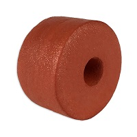 "Float, PVC Sponge, 2-1/2"" dia. by 1-1/2"", Rust"
