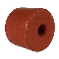 "Float, PVC Sponge, 4"" dia. by 3"", Rust"