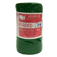 Green Braided Nylon Seine Twine