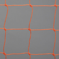 Soccer Goal Nets, Pair of 7' High, 21' Wide, 3' Top Depth, 7' Base Depth, Orange