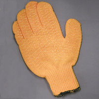 Gloves, Knit Wrist, Sure-Grip, Large
