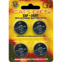 4 Pack Cap Light Replacement Batteries | Memphis Net & Twine