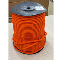 Braided Poly Foamcore, 3/8 in. by 600 ft., Orange Jacket