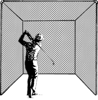 Golf Cage, Single Unit Treated (includes net only)
