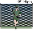 Lacrosse Backstop, 15 ft. High