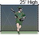 Lacrosse Backstop, 25 ft. High